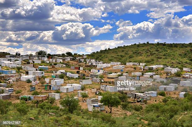 katutura, the slum district of windhoek, namibia - windhoek katutura stock pictures, royalty-free photos & images