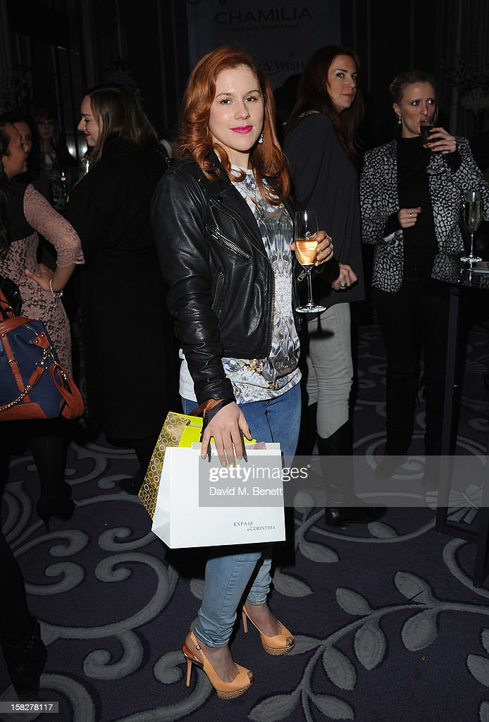 Katy B attends a champagne reception celebrating the launch of Chamilia and Ernest Jones' partnership with Make-A-Wish International at the Corinthia Hotel on December 12, 2012 in London, England.