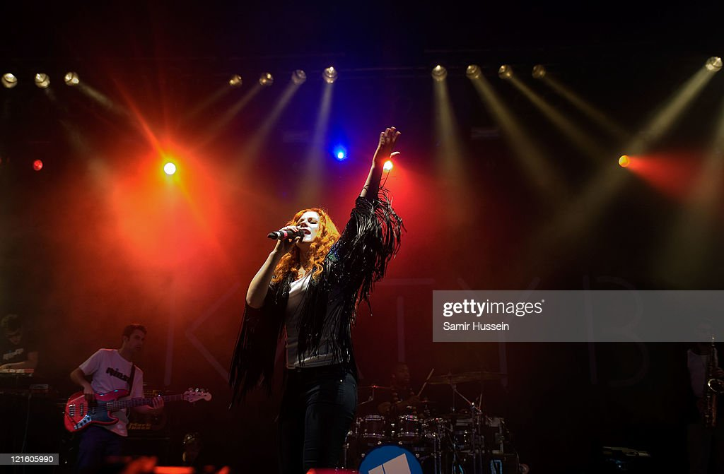 Katy B performs in The Arena on day 1 of the V Festival at Hylands Park on August 20, 2011 in Chelmsford, England.