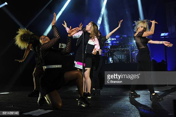 Katy B performs on stage at the O2 Academy Brixton on May 14 2016 in London England