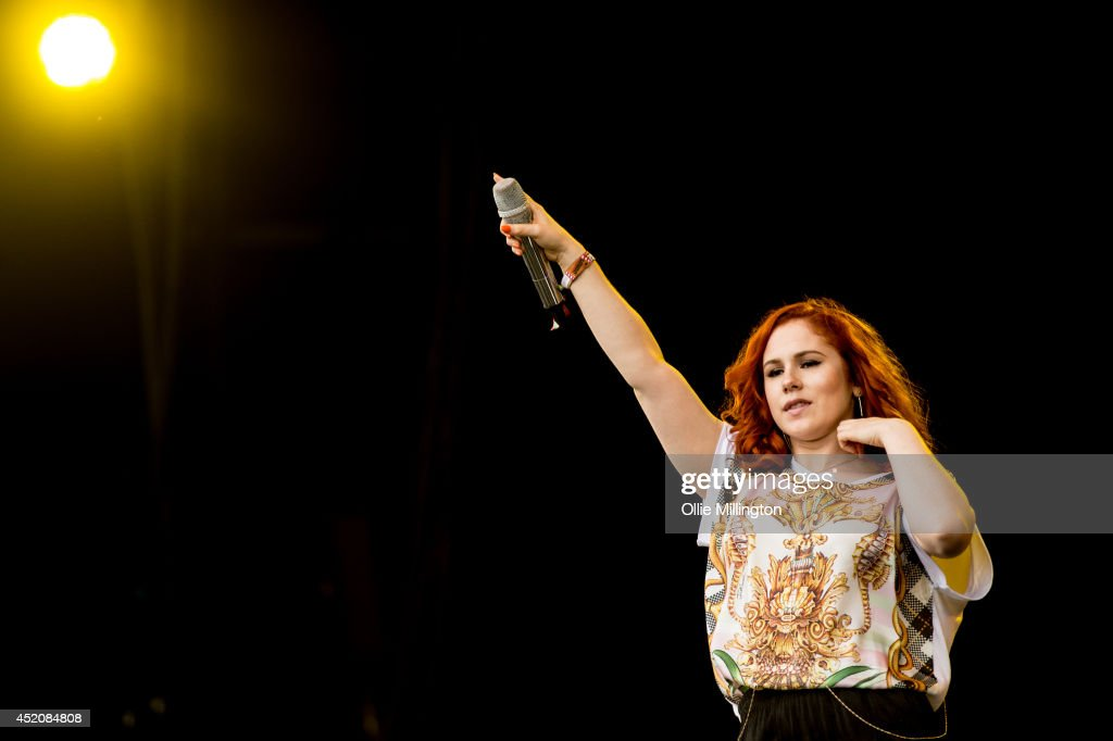 Katy B performs on the main stage during day 2 at T in The Park on July 12, 2014 in Kinross, Scotland.