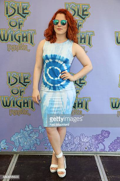 Katy B poses backstage at The Isle of Wight Festival at Seaclose Park on June 13 2014 in Newport Isle of Wight