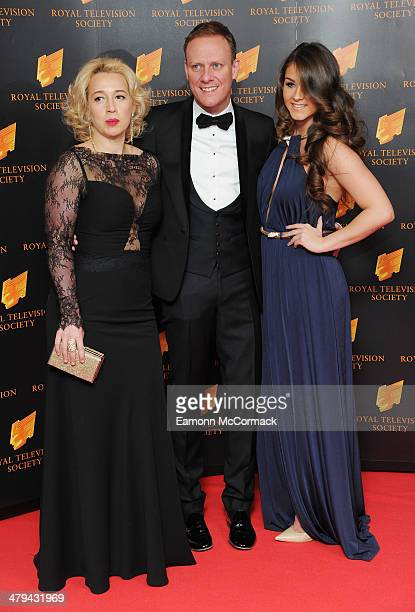 Katy Cavanagh Antony Cotton and Brooke Vincent attend the RTS programme awards at Grosvenor House on March 18 2014 in London England