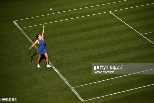 Katy Dunne of Great Britain in action during Day One of the Nature Valley Classic at Edgbaston Priory Club on June 16 2018 in Birmingham United...