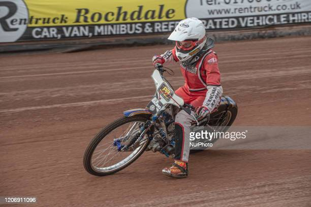 Katy Gordon in action during The Belle Vue Speedway Media Day, at The National Speedway Stadium, Manchester, on Thursday 12 March 2020.