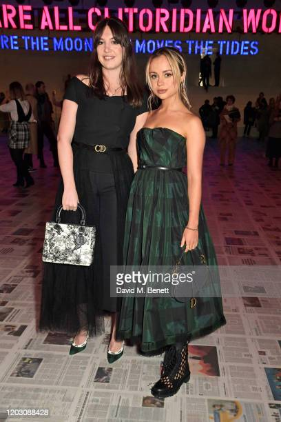 Katy Hessel and Lady Amelia Windsor attend the Dior show during Paris Fashion Week Womenswear Fall/Winter 2020/2021 on February 25 2020 in Paris...