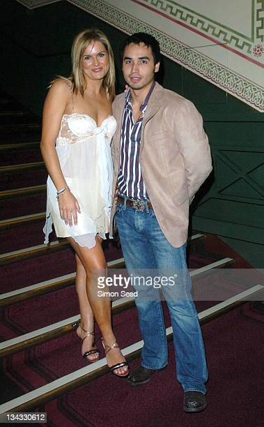 Katy Hill and Trey Farley during Cirque Du Soleil Dralion European Premiere at Royal Albert Hall in London Great Britain