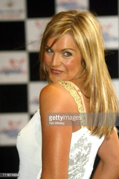Katy Hill during 2004 Capital FM Awards Arrivals at Royal Lancaster Hotel in London Great Britain