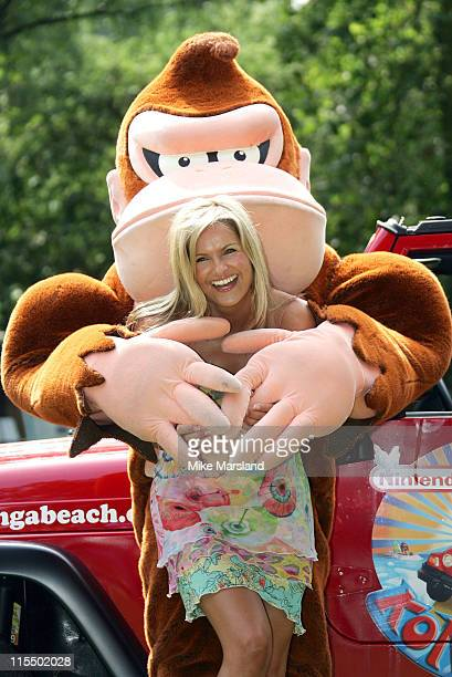 Katy Hill during Katy Hill Launches Nintendo's Konga Beach Party Events to Promote their New Game Donkey Konga Bongo Battle Photocall at London Zoo...