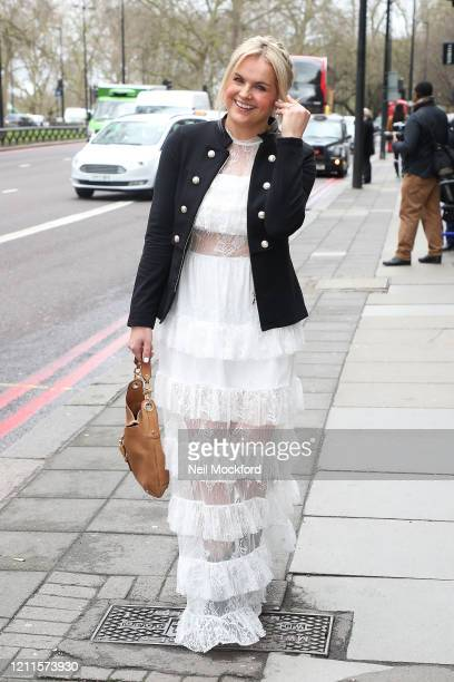 Katy Hill seen arriving for the TRIC Awards at Grosvenor House on March 10 2020 in London England
