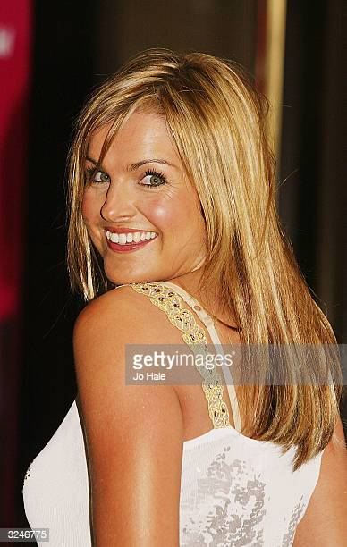 Katy Hill TV Presenter arrives at the Capital FM Awards 2004 at the Royal Lancaster Hotel on April 7 2004 in London The awards celebrate London's...