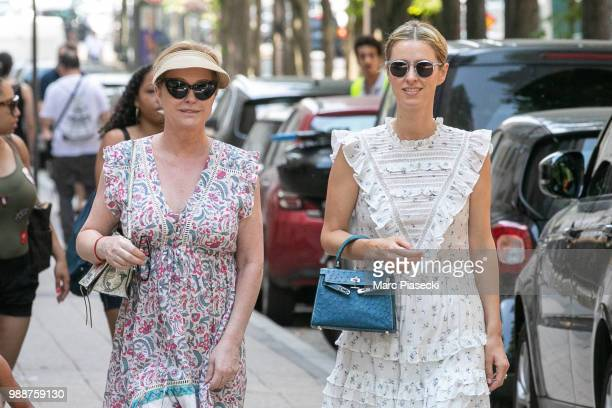 Katy Hilton and daughter Nicky Rotschild Hilton are seen on July 1 2018 in Paris France