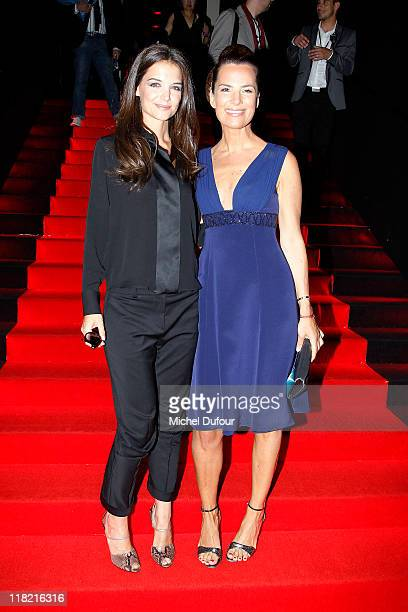 Katy Holmes and Roberta Armani attend the Giorgio Armani Prive Haute Couture Fall/Winter 2011/2012 show as part of Paris Fashion Week at Palais de...