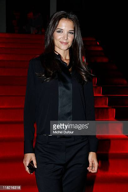 Katy Holmes attends the Giorgio Armani Prive Haute Couture Fall/Winter 2011/2012 show as part of Paris Fashion Week at Palais de Chaillot on July 5,...