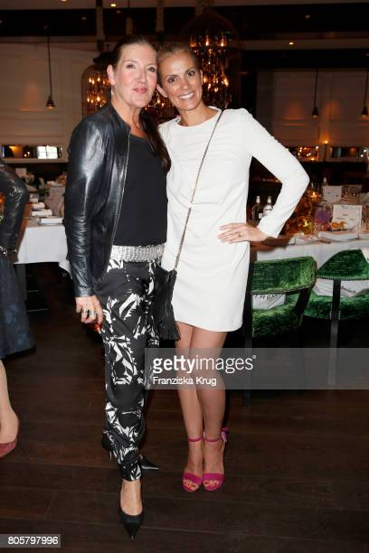 Katy Karrenbauer and Kerstin Linnartz attend the Annabelle Mandeng Hosts Ladies Dinner In Berlin on July 2 2017 in Berlin Germany