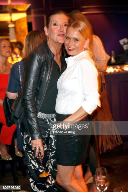 Katy Karrenbauer and Nova Meierhenrich attend the Annabelle Mandeng Hosts Ladies Dinner In Berlin on July 2 2017 in Berlin Germany