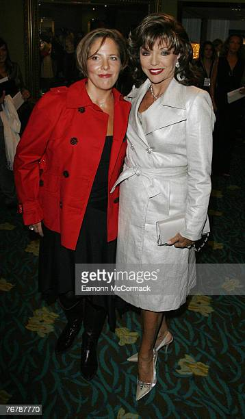Katy Kass and Actress Joan Collins attend the Julien MacDonald London Fashion Week Spring 2008 show on September 16 2007 in London England