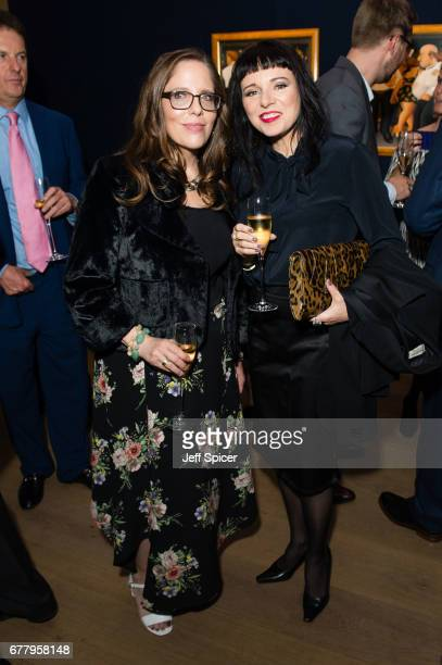 Katy Kass and Tara Newley attend as auction house hosts champagne reception to preview a selection of the 1000lot estate of the late author Jackie...