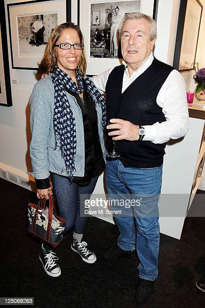 Katy Kass and Terry O'Neill attend a private view of British photographer Terry O'Neill's exhibit It Girls Boys at The Little Black Gallery on...
