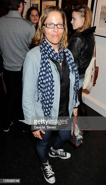 Katy Kass attends a private view of British photographer Terry O'Neill's exhibit It Girls Boys at The Little Black Gallery on September 15 2011 in...