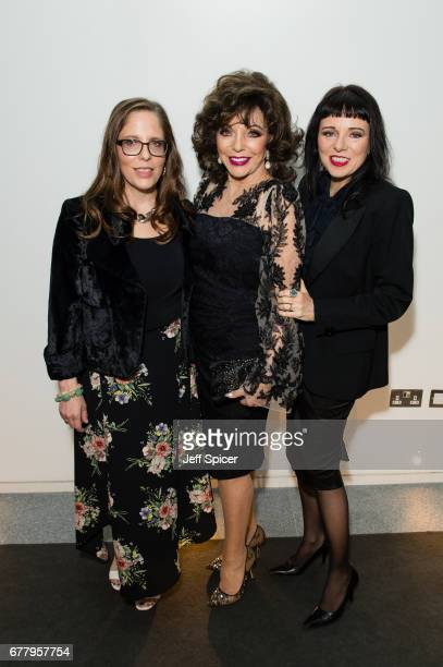 Katy Kass Joan Collins and Tara Newley attend as auction house hosts champagne reception to preview a selection of the 1000lot estate of the late...
