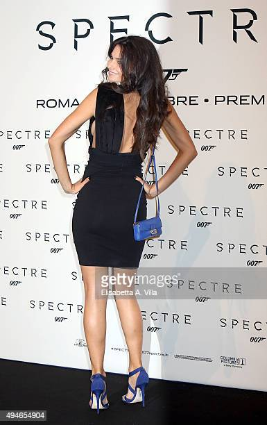 Katy Louise Saunders attends a red carpet for 'Spectre' on October 27 2015 in Rome Italy