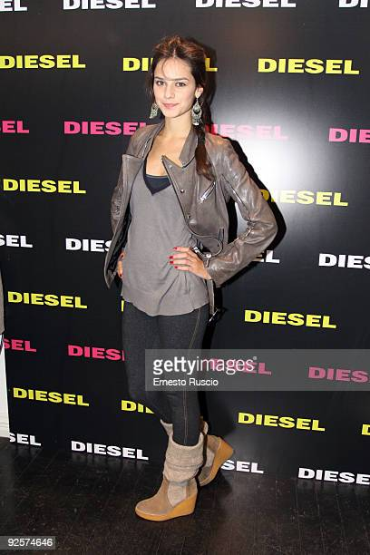 Katy Louise Saunders attends Diesel Cocktail Party at Diesel Store on October 30 2009 in Rome Italy