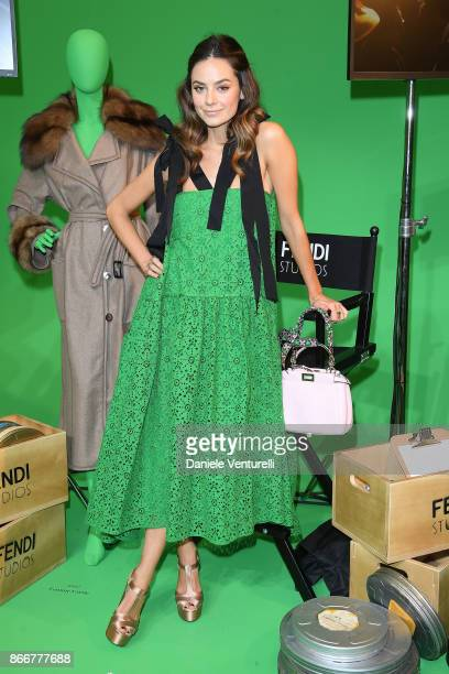 Katy Louise Saunders attends 'Fendi Studios' exhibition opening night during the 12th Rome Film Fest at Palazzo Della Civilta' Italiana on October 26...