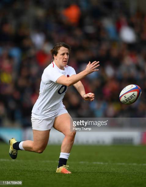 Katy McLean of England during the Womens Six Nations match between England and Italy at Sandy Park on March 09 2019 in Exeter England