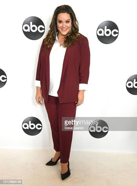 Katy Mixon arrives at the Disney ABC Television Hosts TCA Summer Press Tour at The Beverly Hilton Hotel on August 7 2018 in Beverly Hills California