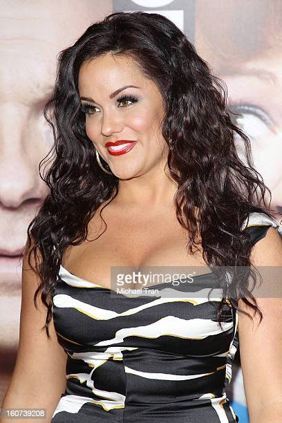 """Katy Mixon arrives at the Los Angeles premiere of """"Identity Thief"""" held at Mann Village Theatre on February 4, 2013 in Westwood, California."""