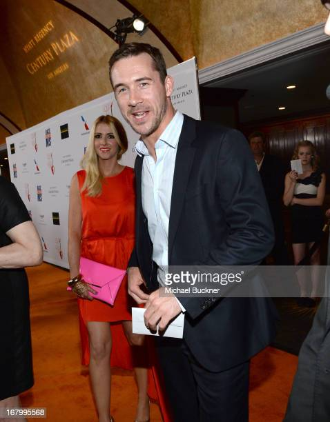 Katy O'Grady and actor Barry Sloane attends the 20th Annual Race To Erase MS Gala Love To Erase MS at the Hyatt Regency Century Plaza on May 3 2013...