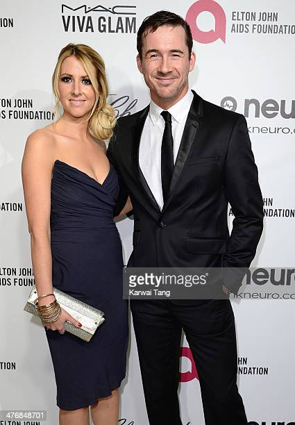 Katy O'Grady and Barry Sloane arrive for the 22nd Annual Elton John AIDS Foundation's Oscar Viewing Party held at West Hollywood Park on March 2 2014...