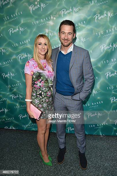 Katy O'Grady and Barry Sloane attend the Ted Baker London's SS15 launch event at Avalon Hotel on March 4 2015 in Beverly Hills California