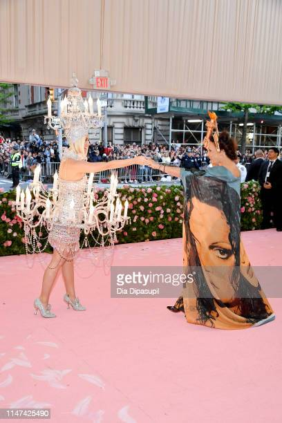 Katy Perry and Diane von Furstenberg attend The 2019 Met Gala Celebrating Camp Notes on Fashion at Metropolitan Museum of Art on May 06 2019 in New...