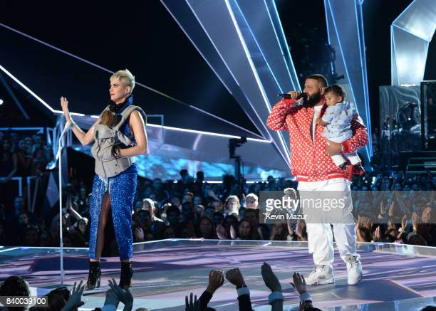 Katy Perry and DJ Khaled during the 2017 MTV Video Music Awards at The Forum on August 27 2017 in Inglewood California