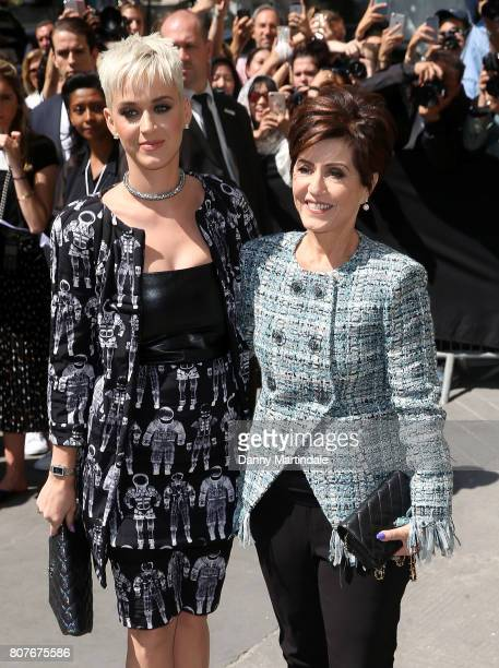 Katy Perry and her mother Mary Perry attends the 'Chanel' show during Paris Fashion Week Haute Couture Fall/Winter 20172018 on July 4 2017 in Paris...