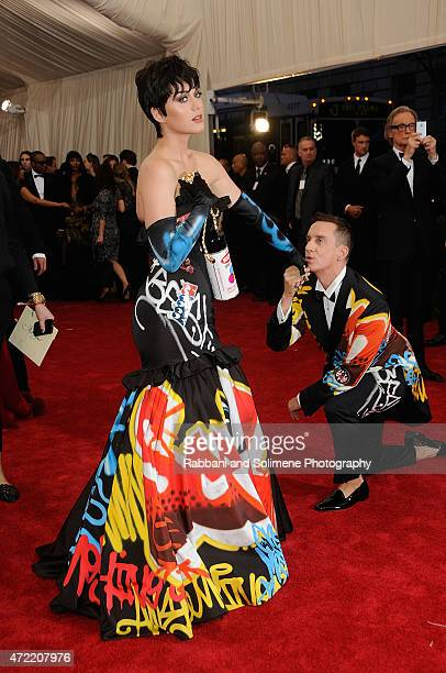 Katy Perry and Jeremy Scott arrives at 'China Through The Looking Glass' Costume Institute Benefit Gala at the Metropolitan Museum of Art on May 4...