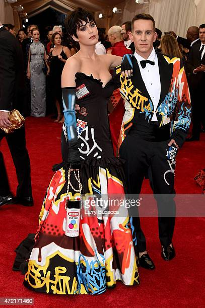 """Katy Perry and Jeremy Scott attend the """"China: Through The Looking Glass"""" Costume Institute Benefit Gala at the Metropolitan Museum of Art on May 4,..."""