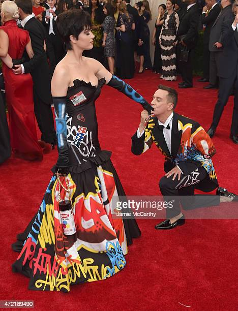 Katy Perry and Jeremy Scott attend the 'China Through The Looking Glass' Costume Institute Benefit Gala at the Metropolitan Museum of Art on May 4...
