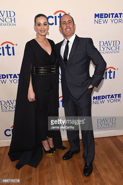 Katy Perry and Jerry Seinfeld attend Citi Presents Change Begins Within a David Lynch Foundation Benefit Concert on November 4 2015 in New York City