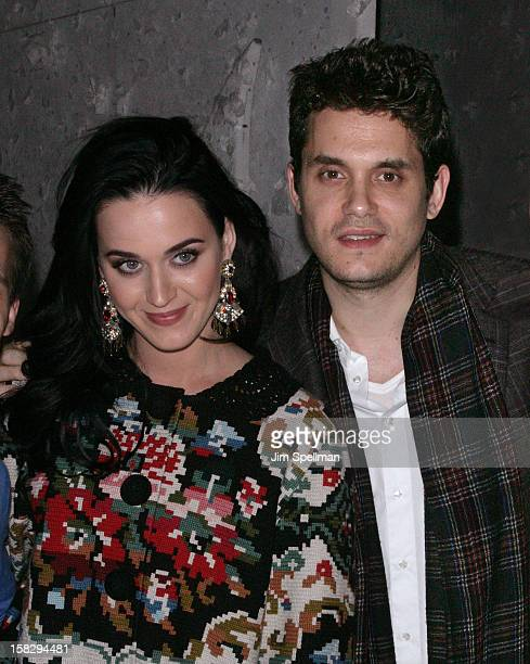 Katy Perry And John Mayer attend A Christmas Story The Musical Broadway Performance at LuntFontanne Theatre on December 12 2012 in New York City