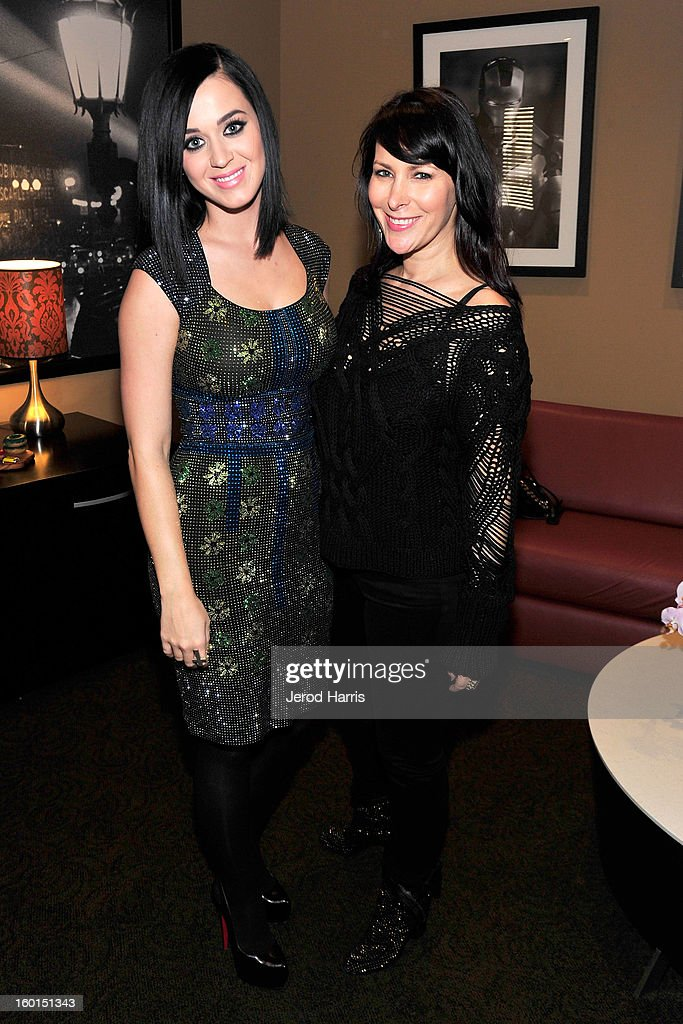 Katy Perry (L) and Lori Levine attend the unveiling of Katy Perry's wax figure for Madame Tussauds Las Vegas at Paramount Studios on January 26, 2013 in Hollywood, California.