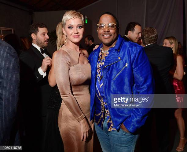Katy Perry and Mase at the 2018 Baby2Baby Gala Presented by Paul Mitchell at 3LABS on November 10 2018 in Culver City California