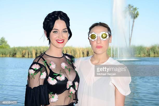 Katy Perry and Mia Moretti attend Soho Desert House on April 11 2015 in La Quinta California