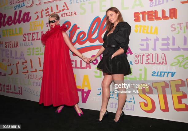 Katy Perry and Stella McCartney attend Stella McCartney's Autumn 2018 Collection Launch on January 16 2018 in Los Angeles California