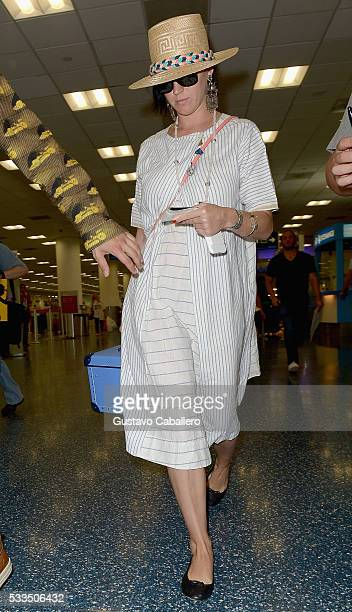Katy Perry are seen at Miami International Airport on May 22 2016 in Miami Florida