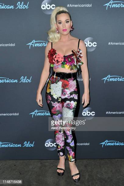 Katy Perry arrives at ABC's American Idol live show on May 12 2019 in Los Angeles California