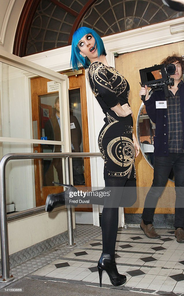 Katy Perry arrives at BBC Maida Vale on March 19, 2012 in London, England.