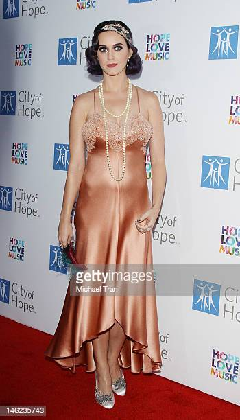 Katy Perry arrives at City Of Hope's music and entertainment industry group honors Bob Pittman held at The Geffen Contemporary at MOCA on June 12...